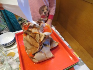 You can make your volcano erupt again by adding more vinegar and baking soda!