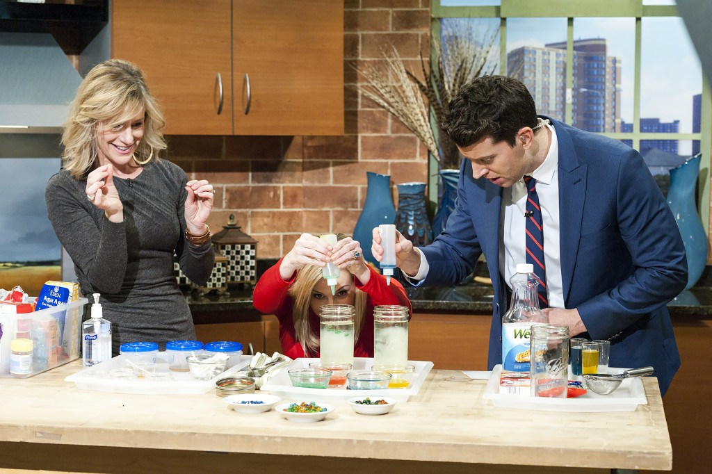 Making magic orbs on Twin Cities Live with Lindsey Brown and Steve Patterson (photo by Glenn Griffin)