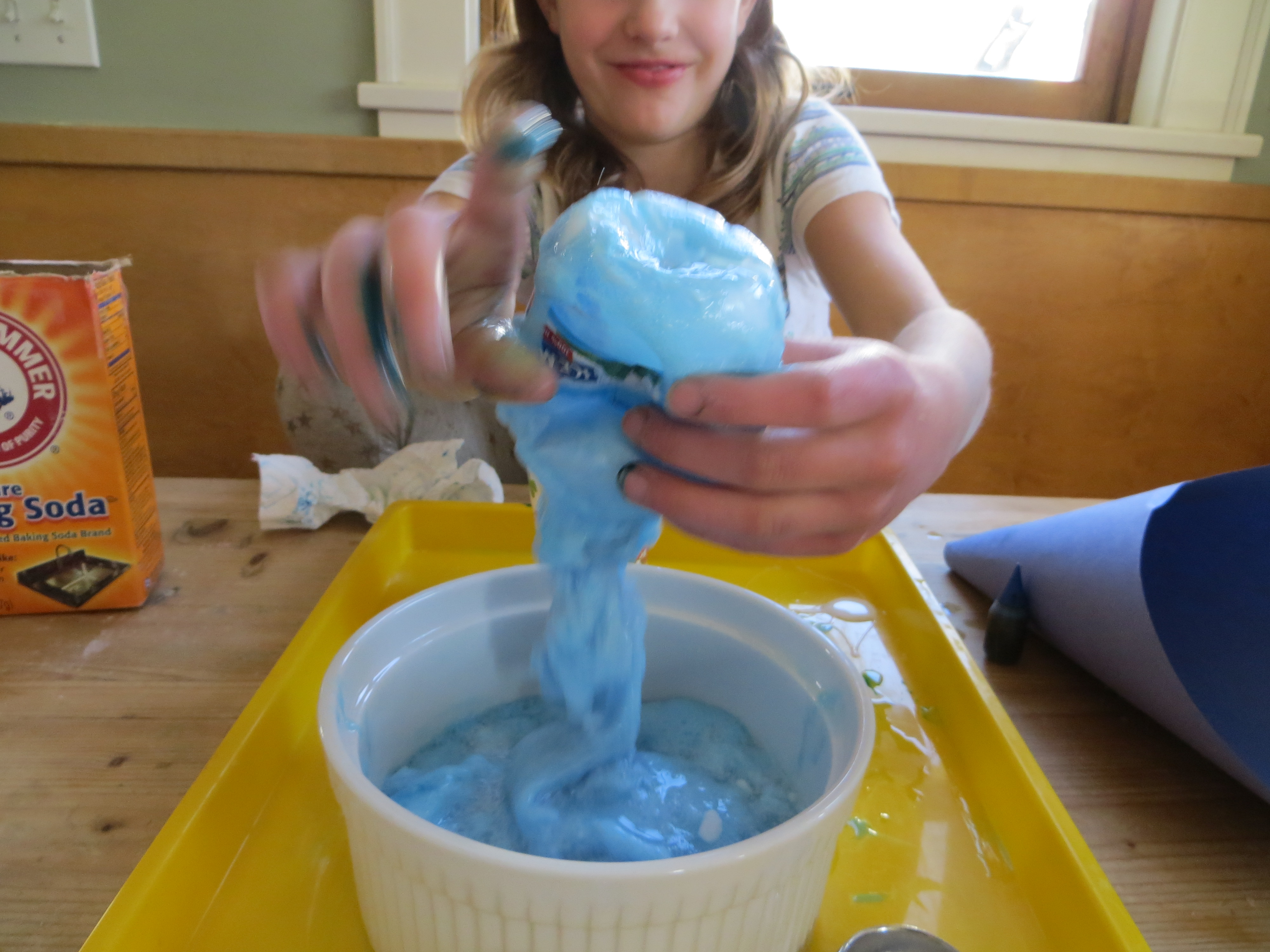 Slime the kitchen pantry scientist enjoy your foaming slime monster what would happen if you added glitter does the amount of glue you added make a difference what if you added more ccuart Images