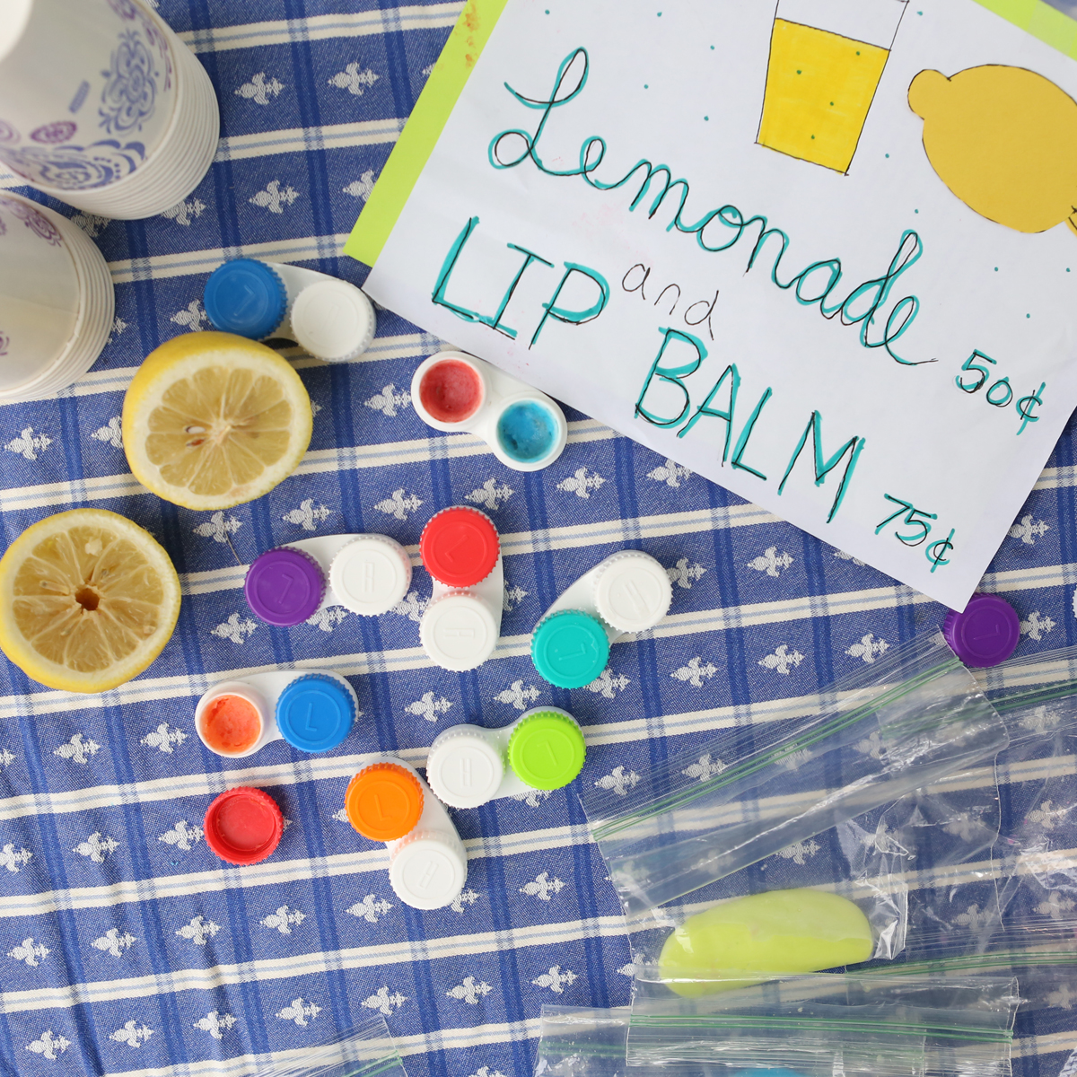 Lemonade Stand Lip Balm (from Outdoor Science Lab for Kids- Quarry Books 2016)