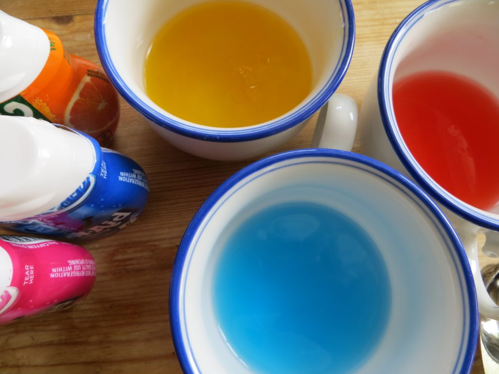 Add liquid drink drops to add flavor and color (KitchenPantryScientist.com)